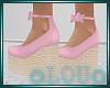 .L. Easter Wedges Pink