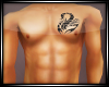 Scorpion Chest Tattoo