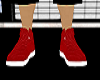 RED AND WHITE BOOTS!
