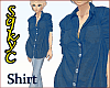 Comfy Long Denim Shirt