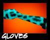 Teal Leopard Gloves