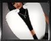 -pr- white fur scarve