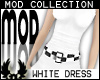 -cp Mod White Dress