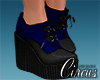 C` Blue Heel Boots