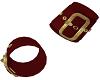 Red Gold Cuff x2