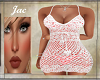 J*CROCHETTED DRESS CORAL