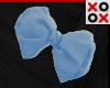 Blue Bow Hair Clip - R