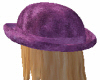 Purple Velvet Derby hat