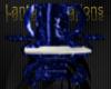Cobalt Marble Chair
