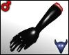 PVC gloves black (m)