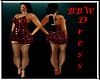 BBW Red Rose Dress