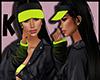 Kat black lime cap