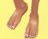 loveheart toenails