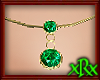 Double Emerald Necklace