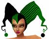 GREEN ARLEQUIN HAT (F)