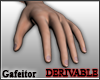 Realistic male hands