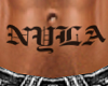 K NYLA custom belly tatt