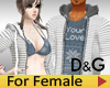 D&G Couple Hoody Female