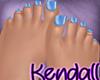 *KT* Feet Blue Nails