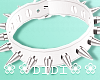 !D! Spike Collar White