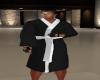 BLACK WHITE M ROBE