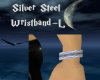 Silver Steel Wristband-L