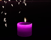 Single purple candle