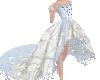 Kids Blue Magnolia Gown