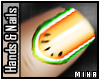 [M] Orange Melon Nails
