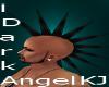 black spike hair