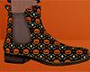 Pumpkin Skull Ankle Boot