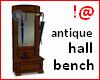 !@ Antique hall bench