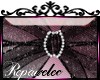 *R* Glitter Bow Sticker