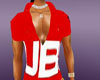 fubu red close mus shirt