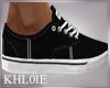 K black white shoes