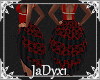 Layerable Skirt -red blk