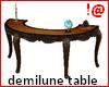!@ Antiq demilune table