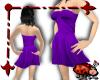 Silk Mini Dress - Purple