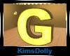 *KD* Bee Room Letter G