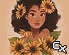 Sunflower Girl Cutout v6