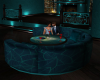 Teal Round Booth