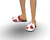 (LMG) Heart Slippers