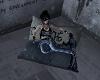 bansky art pillow