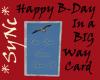 *Sync Big Birthday Card