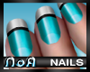 *NoA*Nails Blue / White