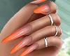 � Orange Ombre Nails