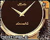 F Chrome Leather Watch