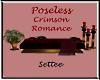 Poseless Crimson Settee