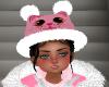 Girls Pink Kitty Hat