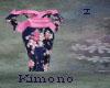 Kimono Drk Blue n Pink